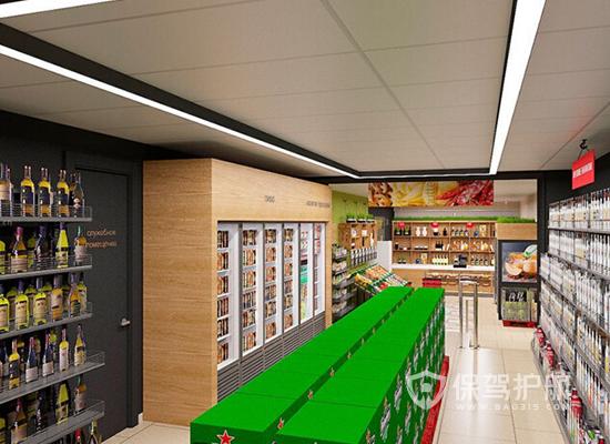 66平米現代風格小超市吊頂裝修效果圖…