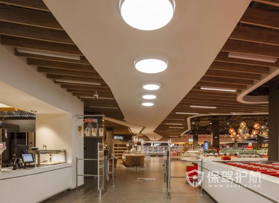 122平米簡約風格超市吊頂裝修實景圖…