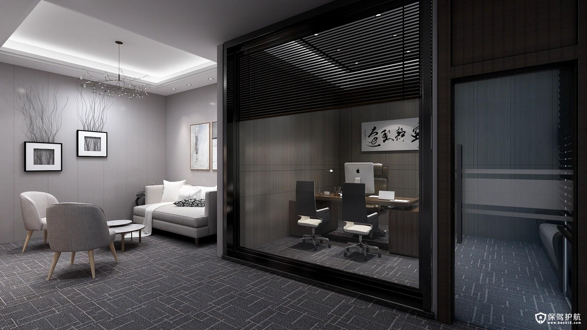 保利B3开放式风格办公室装修效果图