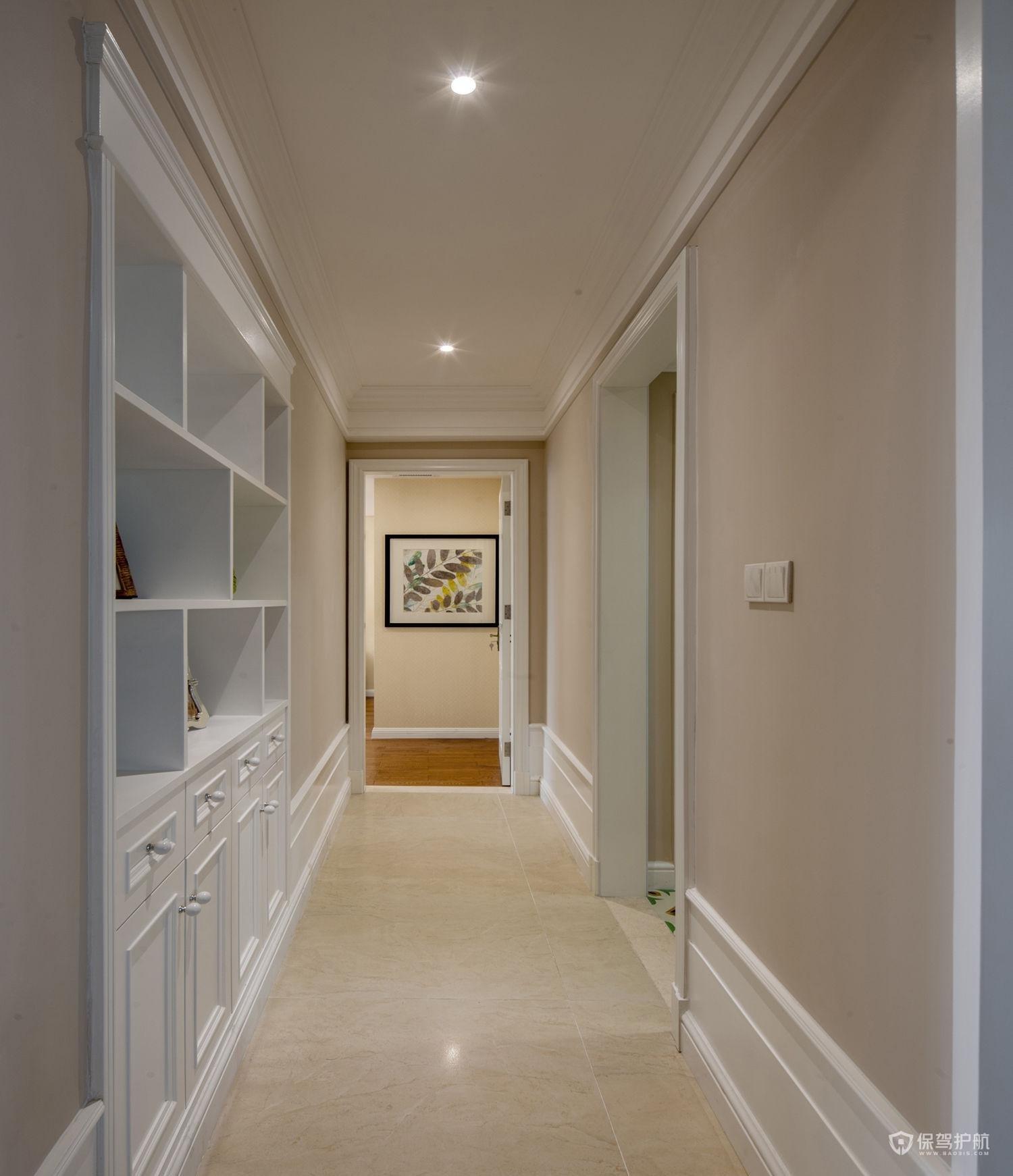 现代美式两室一厅走廊装修效果图