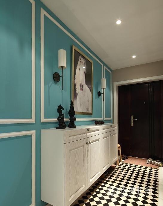 北欧风单身公寓玄关走廊装修效果图