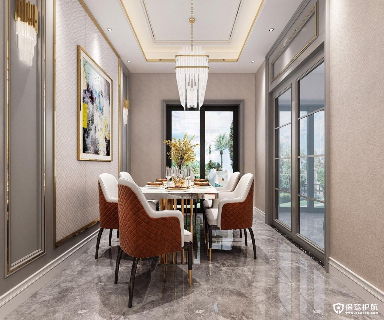 恒大帝景130㎡新古典风格四居室装修效果图