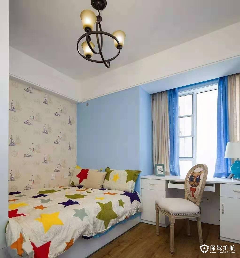 三水润园地中海美式风格三居室装修效果图