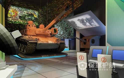 现代风格国防科技展厅装修效果图
