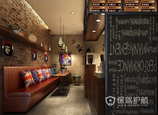13平米歐式風格冷飲店裝修效果圖