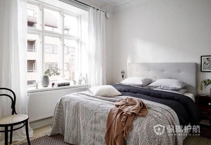 ins北歐風臥室白色窗戶裝修效果圖