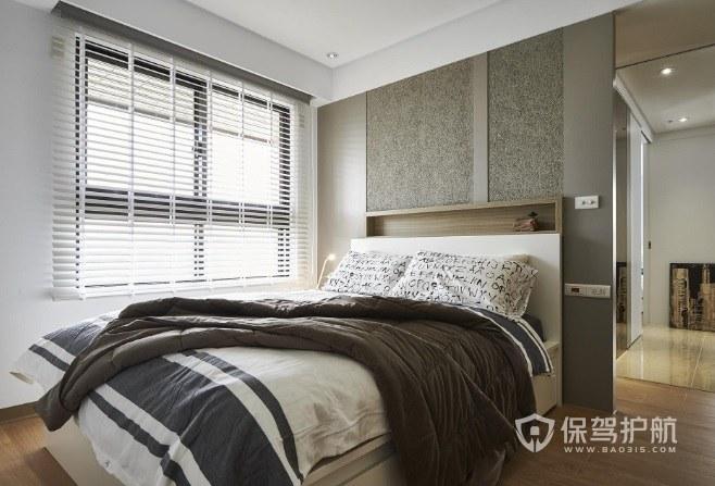 公寓簡約中性風臥室隔斷墻裝修效果圖…