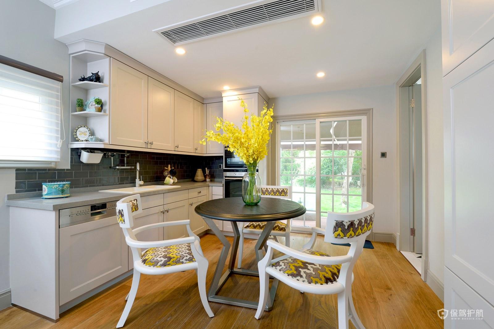 簡約美式風格別墅廚房裝修效果圖