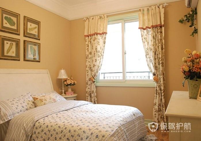 法式田園風少女臥室照片墻裝修效果圖…
