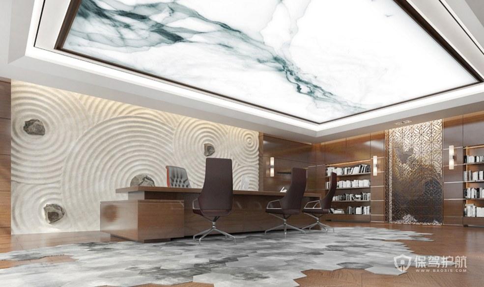 新中式總裁辦公室裝修效果圖