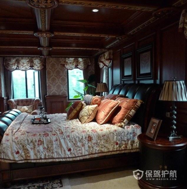 東南亞復古溫馨風豪華臥室吊頂裝修效果圖