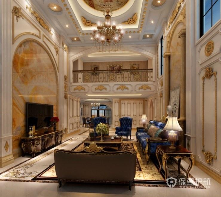 豪華歐式別墅客廳挑空如何設計?豪華歐式別墅挑空客廳圖片