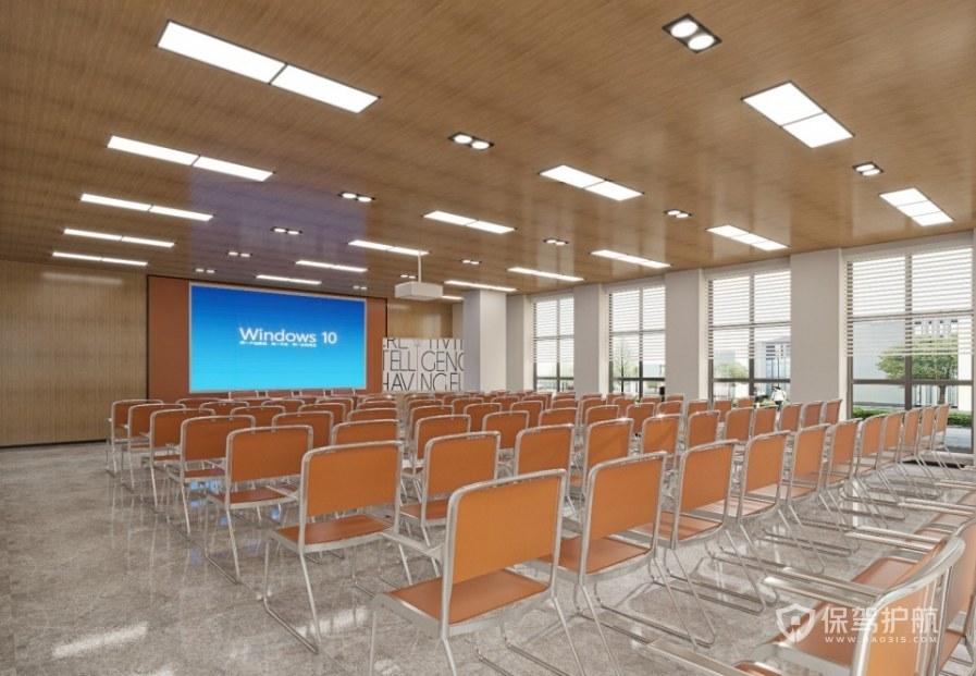 日式風格多媒體會議室裝修效果圖