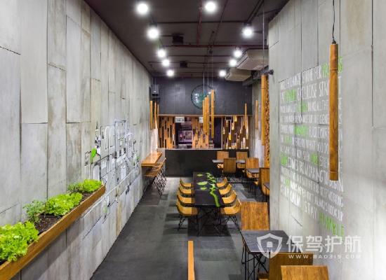 52平米工業風格網紅餐廳裝修效果圖