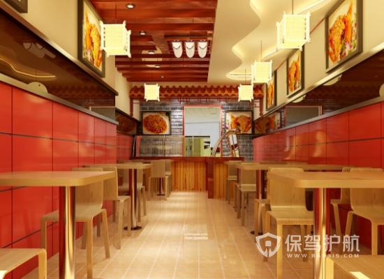 26平米中式風格麻辣燙店裝修效果圖