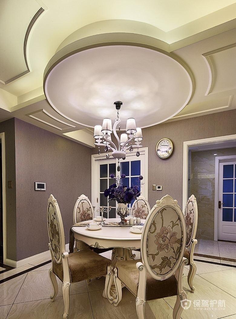 90平欧式风格两房餐厅装修效果图