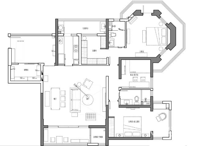 140平三室兩廳怎么裝修 140平裝修效果圖三室兩廳