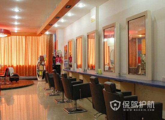 78平米现代风格理发店装修实景图
