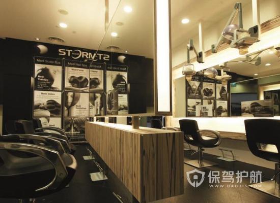 42平米小型现代风格理发店装修实景图…