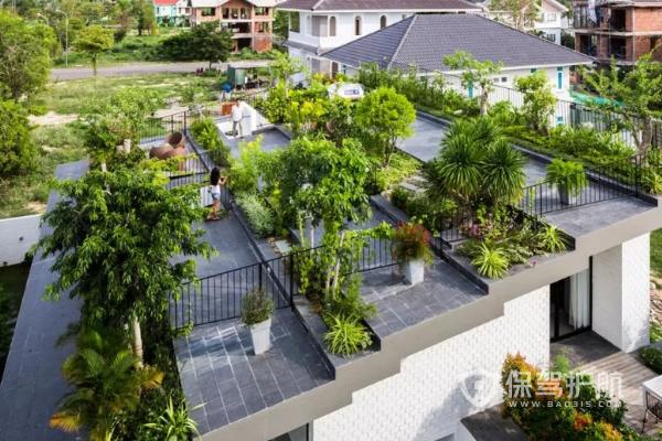 屋顶花园怎样布置?100平方的屋顶花园图