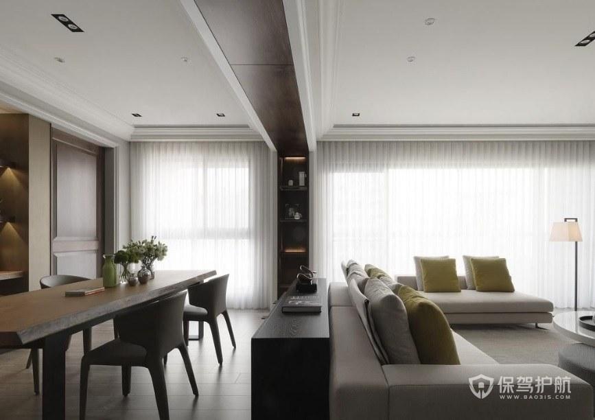橫廳戶型如何裝修設計? 108平米的戶型裝修圖
