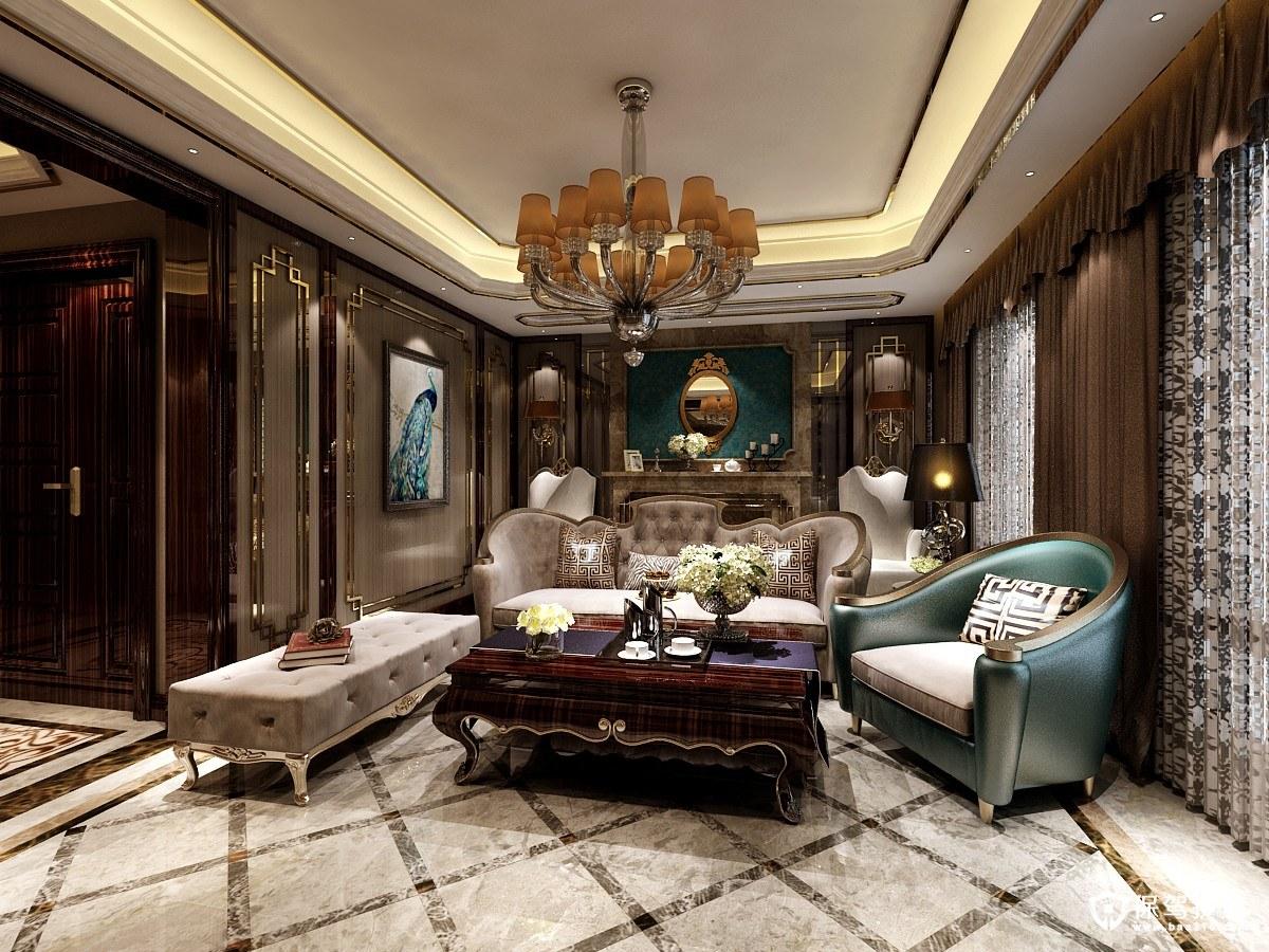 托斯卡纳168㎡现代新古典风格四居室装修效果图