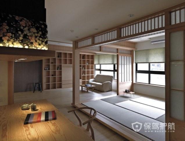 小户型纯日式原木风卧室创意隔断装修…