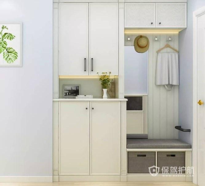 承重墙可以做嵌入式鞋柜吗?玄关的鞋柜如何巧妙设计?