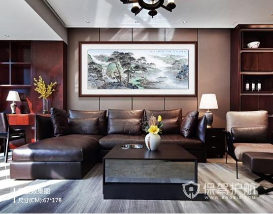转:客厅怎么搭配装饰画?名家山水画打造风雅之家
