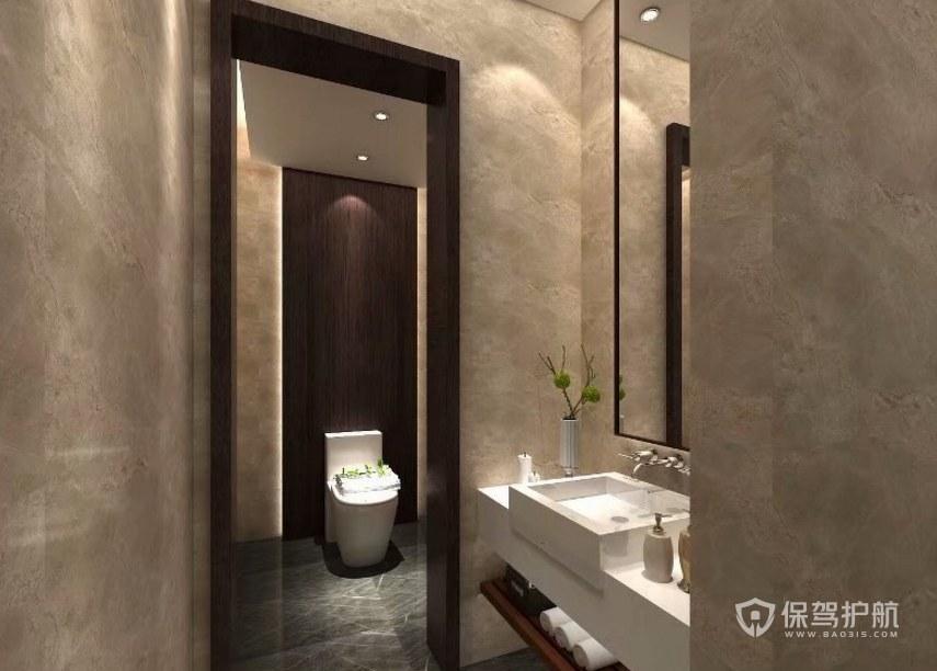 中式风格公司卫生间装修效果图
