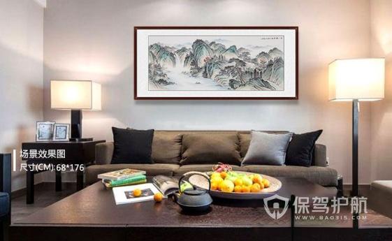 轉:客廳裝飾畫掛什么好?這6款常見且易搭的掛畫參考一下