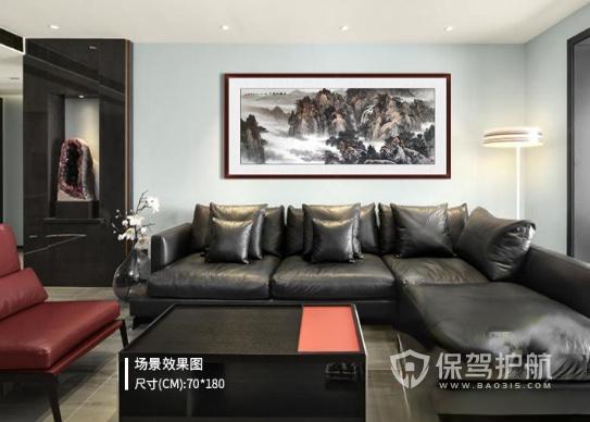 转:客厅墙壁挂画搭配以意境之美的山水为主