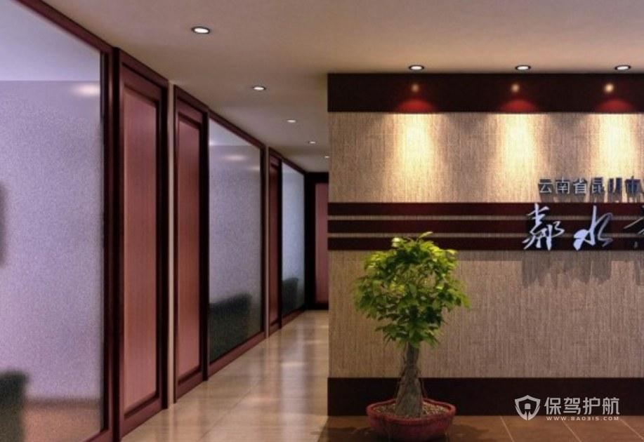 新古典公司门厅走廊装修效果图