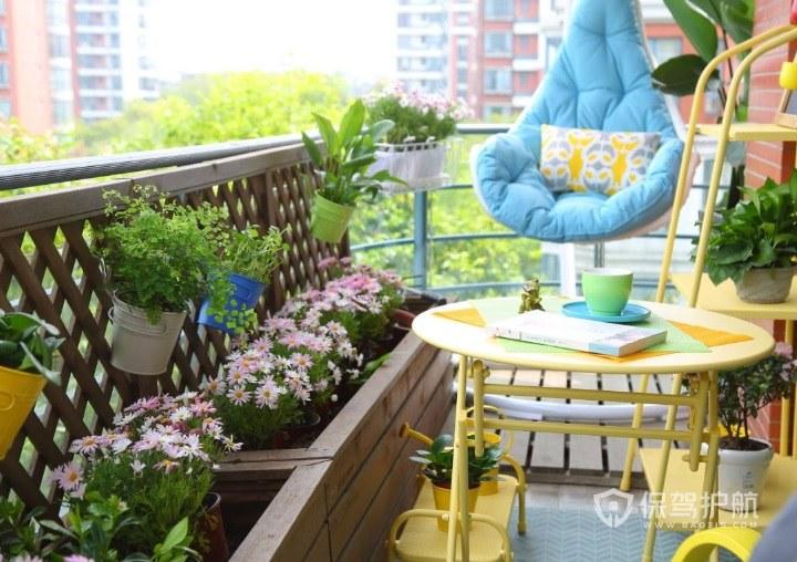 阳台改造小清新田园风小花园装修效果…
