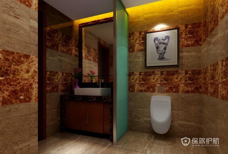 中式古典公司卫生间装修效果图