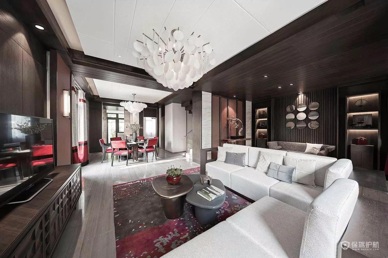 中式古典风四居室客厅装修效果图