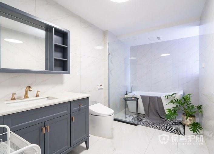 法式简约浪漫风卫生间浴室柜亚搏体育平台app效果图