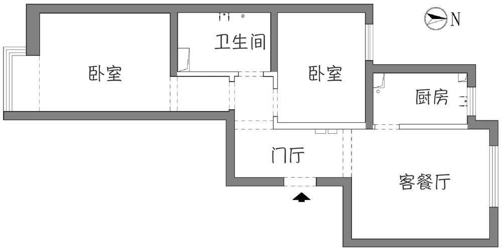 【小户型改两居室】50平小户型改两居室还带衣帽间
