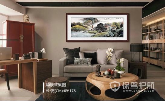 转:客厅装饰山水画鉴赏 独特的山水气韵令人沉醉