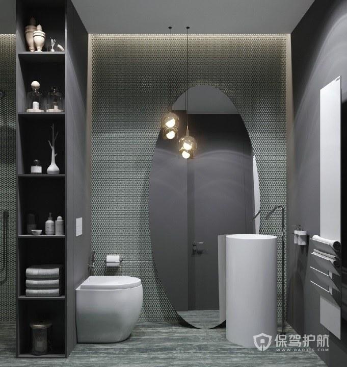 法式艺术风时尚卫生间置物架亚搏体育平台app效果图