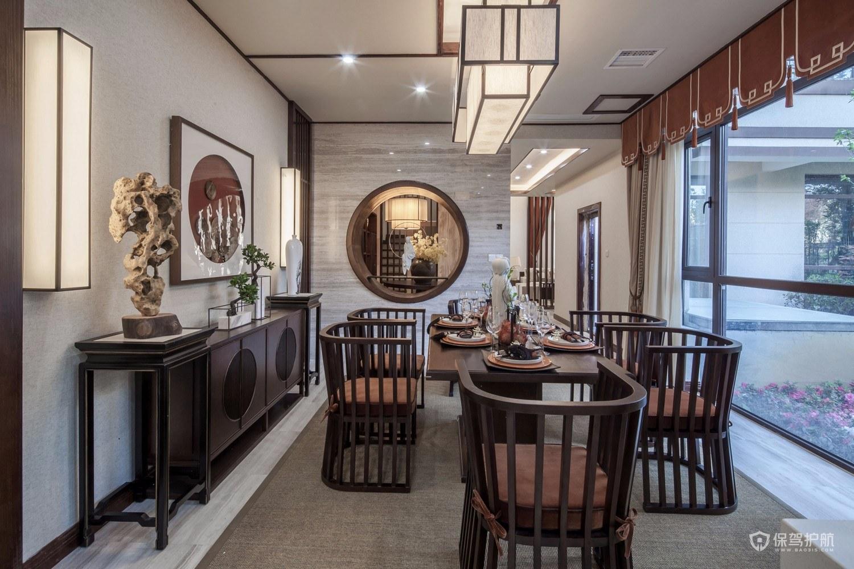 新中式风格别墅餐厅亚搏体育平台app效果图