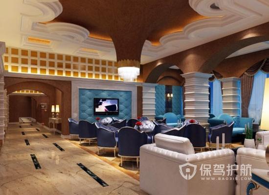 106平米欧式风格咖啡厅装修效果图