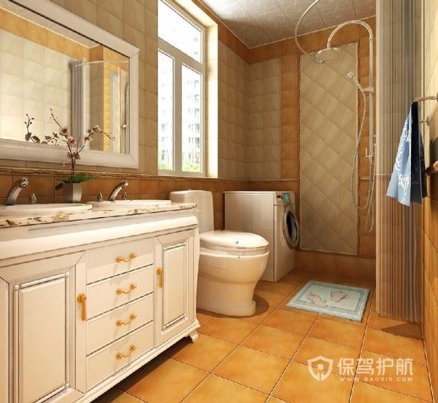 法式简约温馨风卫生间浴室柜亚搏体育平台app效果图