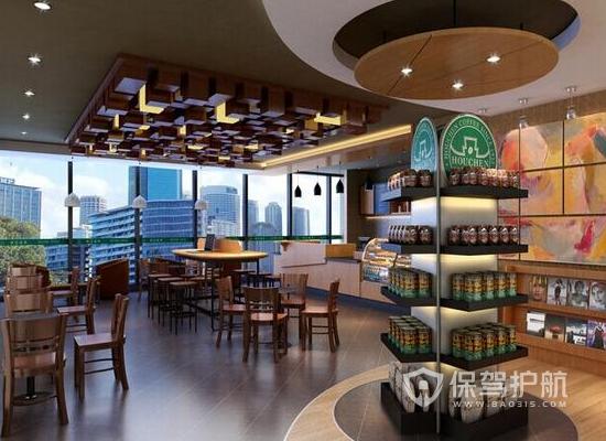 80平米复古风格咖啡厅装修效果图