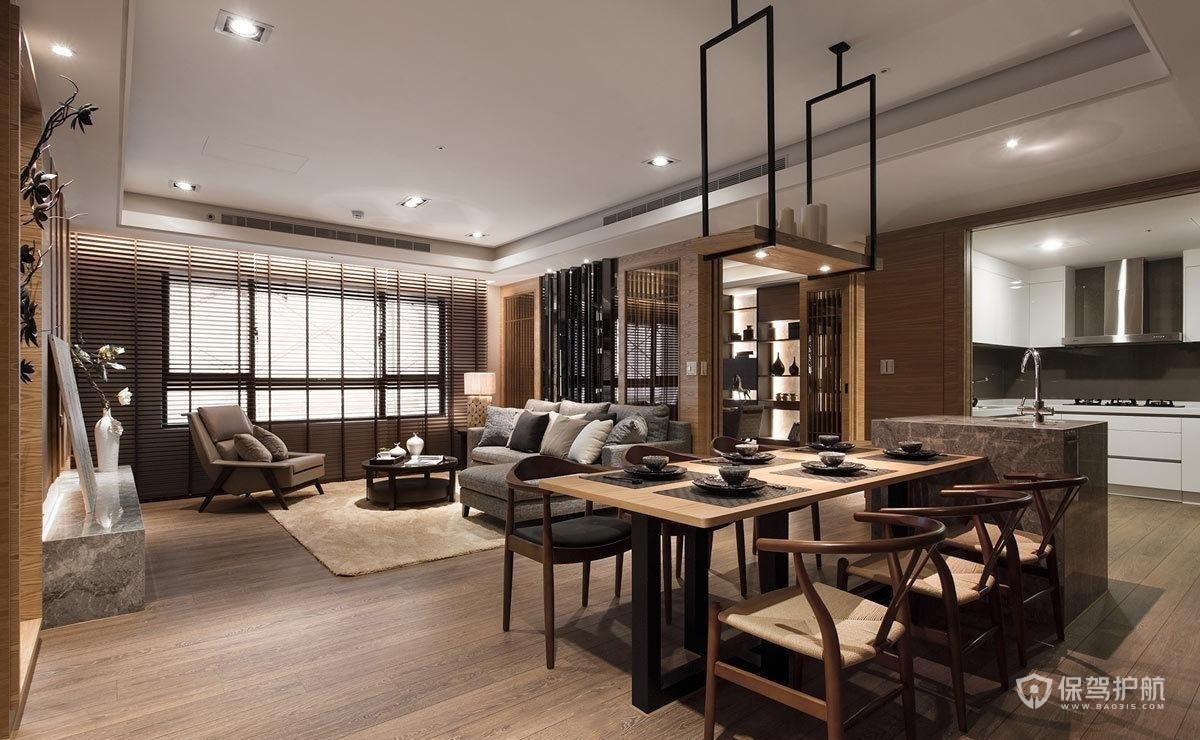 140平新中式风格三居室餐厅亚搏体育平台app效果图