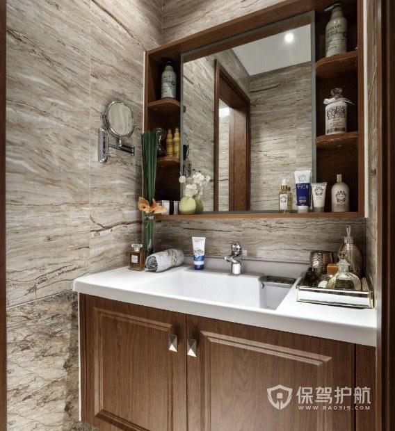 法式简约典雅风卫生间浴室柜亚搏体育平台app效果图