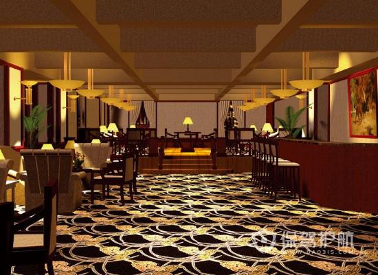 93平米复古风格咖啡厅装修效果图