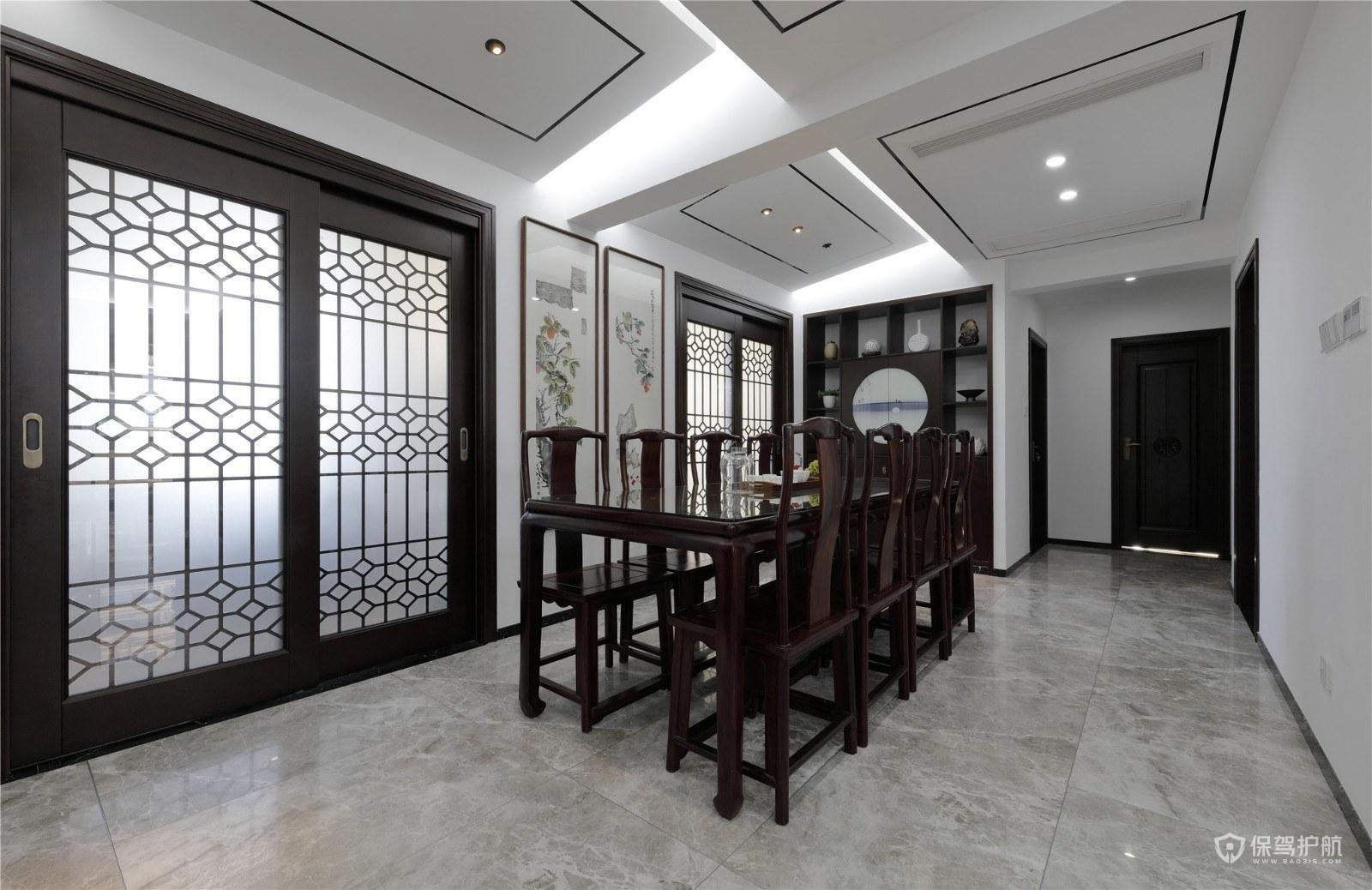 中式古典风格大户型餐厅装修效果图