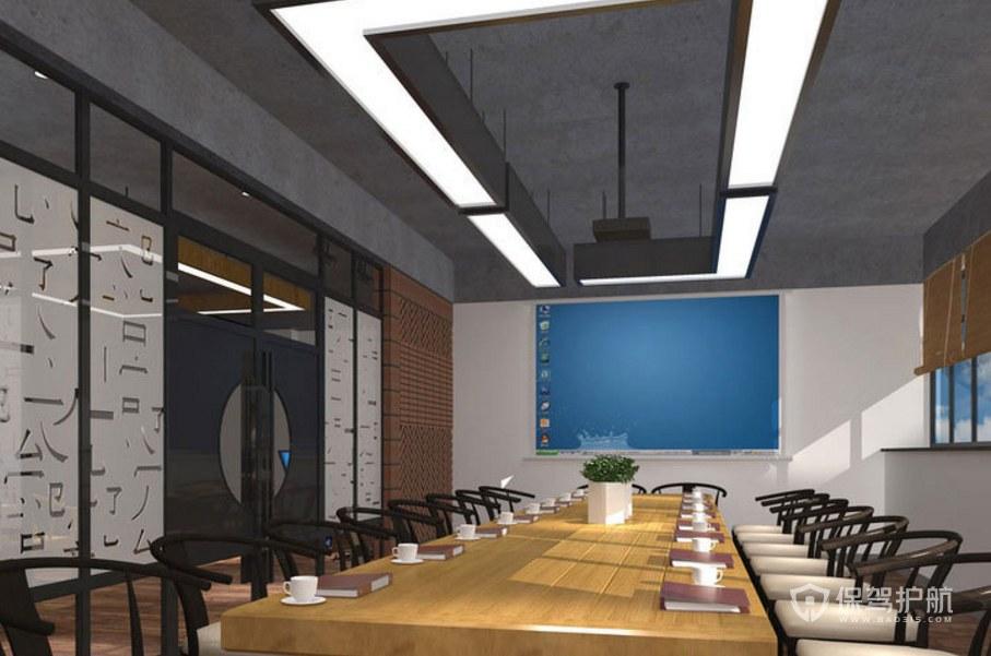 中式工业混搭会议室装修效果图