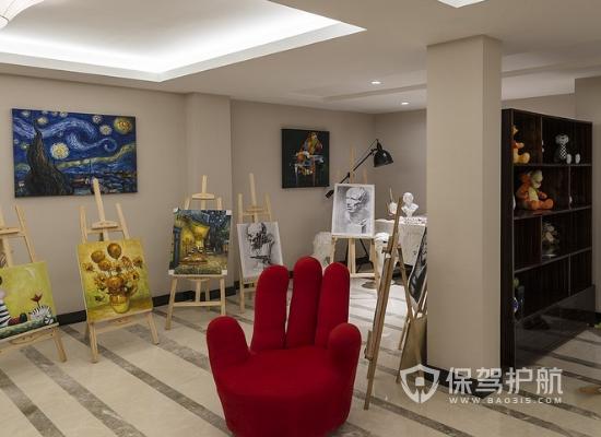 100平米现代风格画室装修实景图